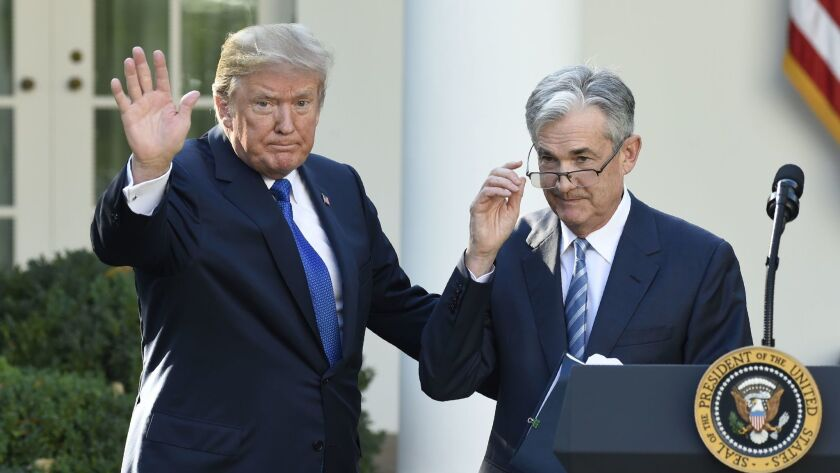 President Trump waves after announcing the nomination of Jerome H. Powell as chairman of the Federal Reserve at the White House on Nov. 2, 2017.