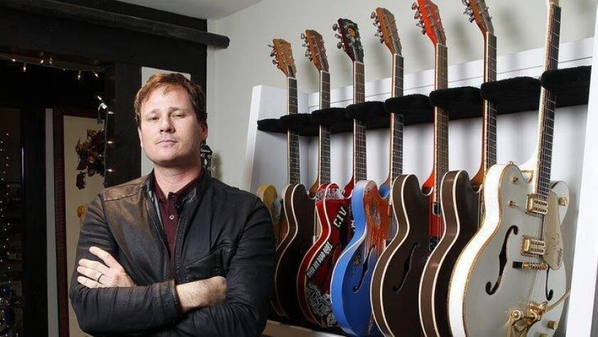 Tom DeLonge of Angels and Airwaves in the band's Carlsabad headquarters.