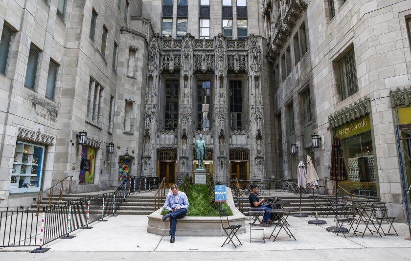 Chicago's Tribune Tower. Gannett's bid for Tribune Publishing is heating up.