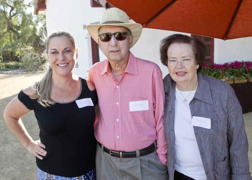 RSF Garden Club executive director Shelly Hart with Fred and Pam Wasserman