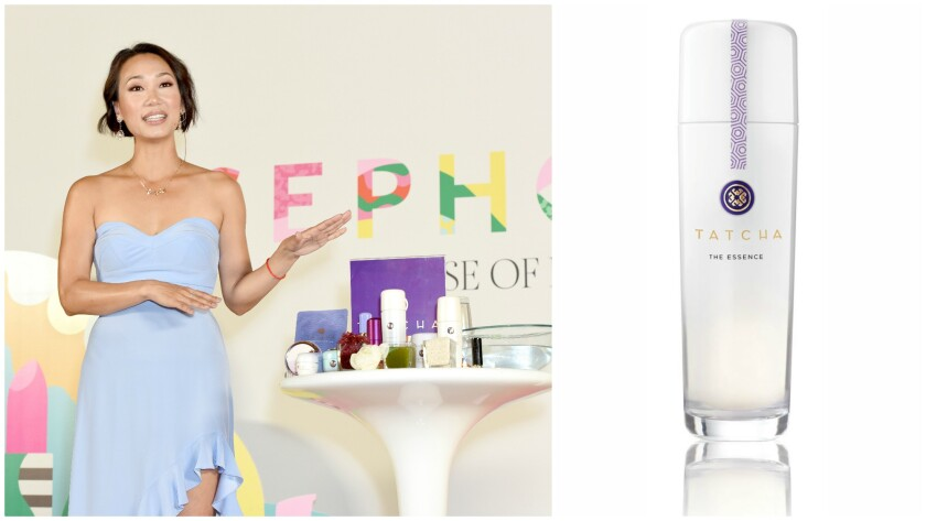 Vicky Tsai teaches a Masterclass at Sephoria: House of Beauty and product shot of the Essence.