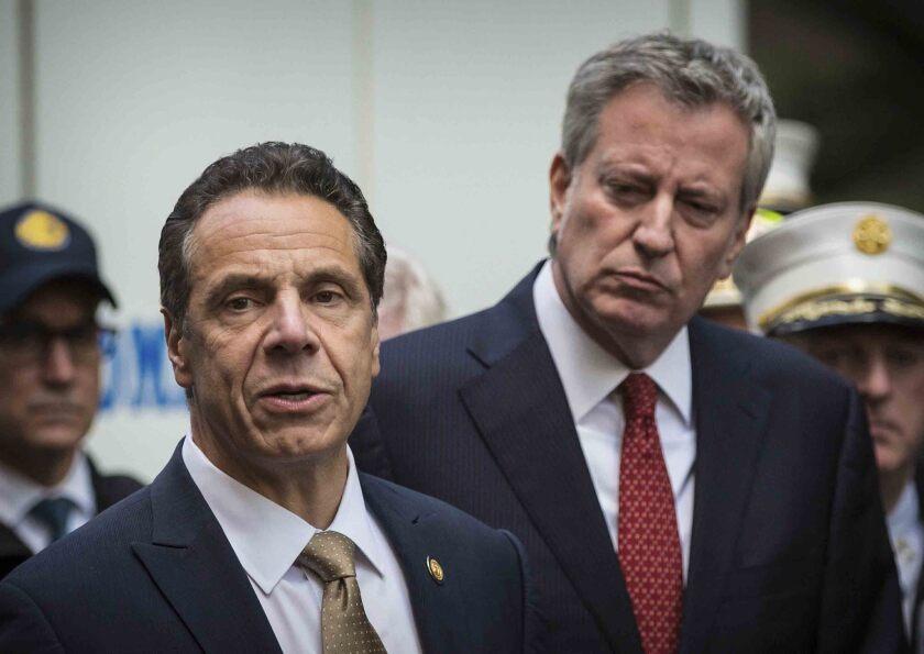 En esta imagen del miércoles 24 de octubre de 2018, el alcalde de Nueva York, Bill de Blasio