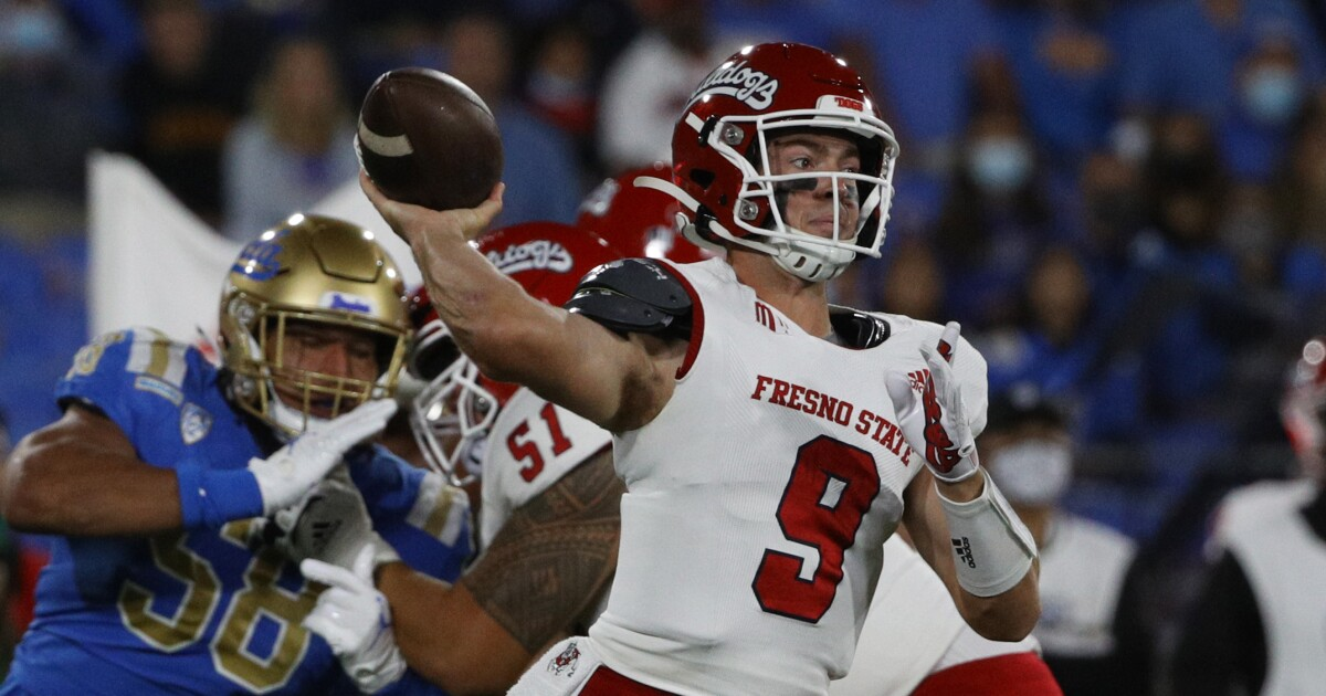 No. 13 UCLA left stunned by Jake Haener and Fresno State in 40-37 loss