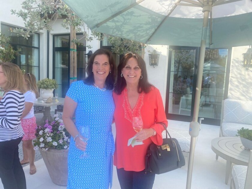 Mara Buchholz and Sharon Bauce at a recent RSF Women's Fund gathering.