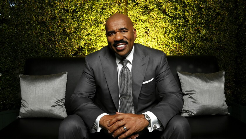 With a work ethic never in doubt, Steve Harvey makes the rounds from one project to the next.
