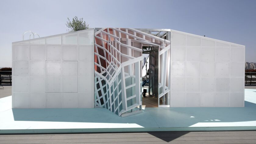 LOS ANGELES, CA-JUNE 06, 2018: The Mini Urban Cabin is built under the supervision of MINI LIVING'