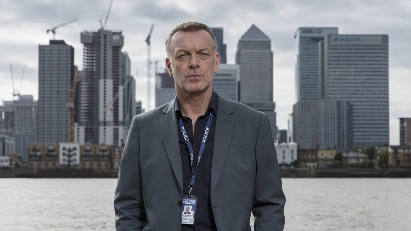 """Tortured pasts and messy present-day circumstances are the bedrock of all good British detective series, and """"London Kills"""" is off to a good start. The five-part series starring Hugo Speer is the first straight-to-series project by streaming service Acorn TV."""