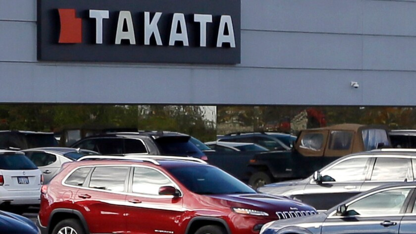 Takata air bag blamed for woman's death in Riverside County crash
