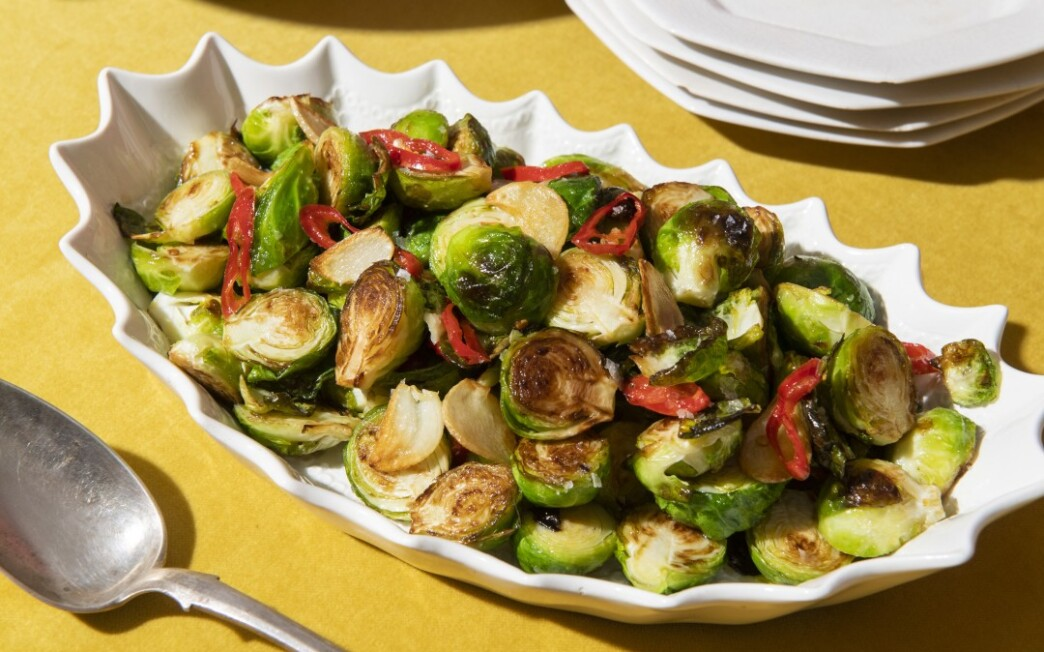 Pan-Seared Brussels Sprouts With Chile-Maple Glaze