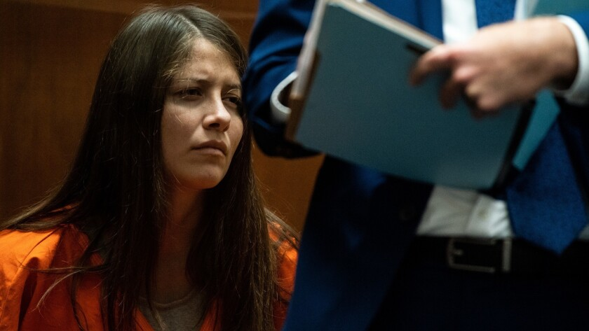 LOS ANGELES, CALIF. - JUNE 21: Susana Median Oaxaca appears in Los Angeles County Superior Court for