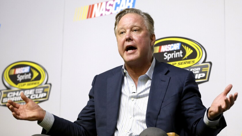NASCAR CEO Brian France backs aggressive driving ... within limits