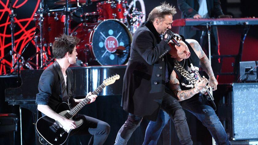 Los Fabulosos Cadillacs perform at the Latin Grammys.