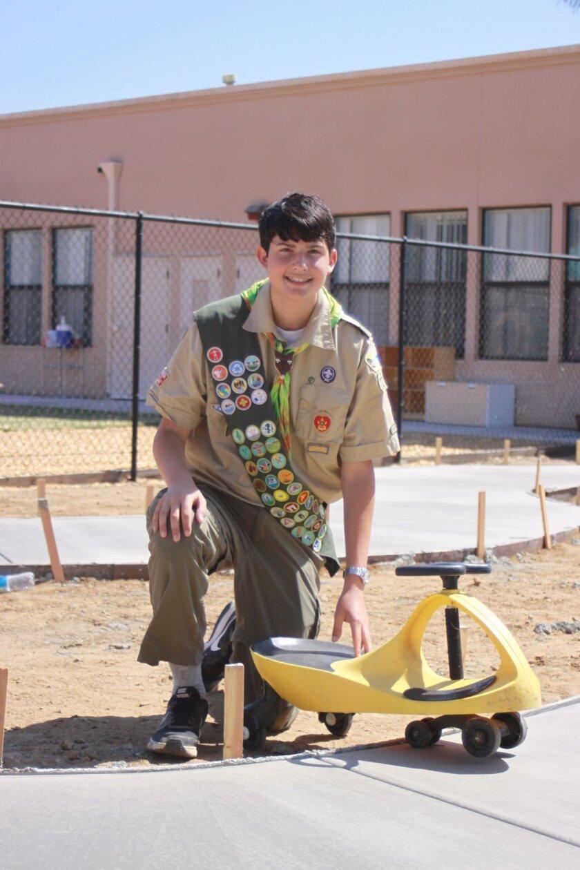 Boy Scout Nicolas Cridlig