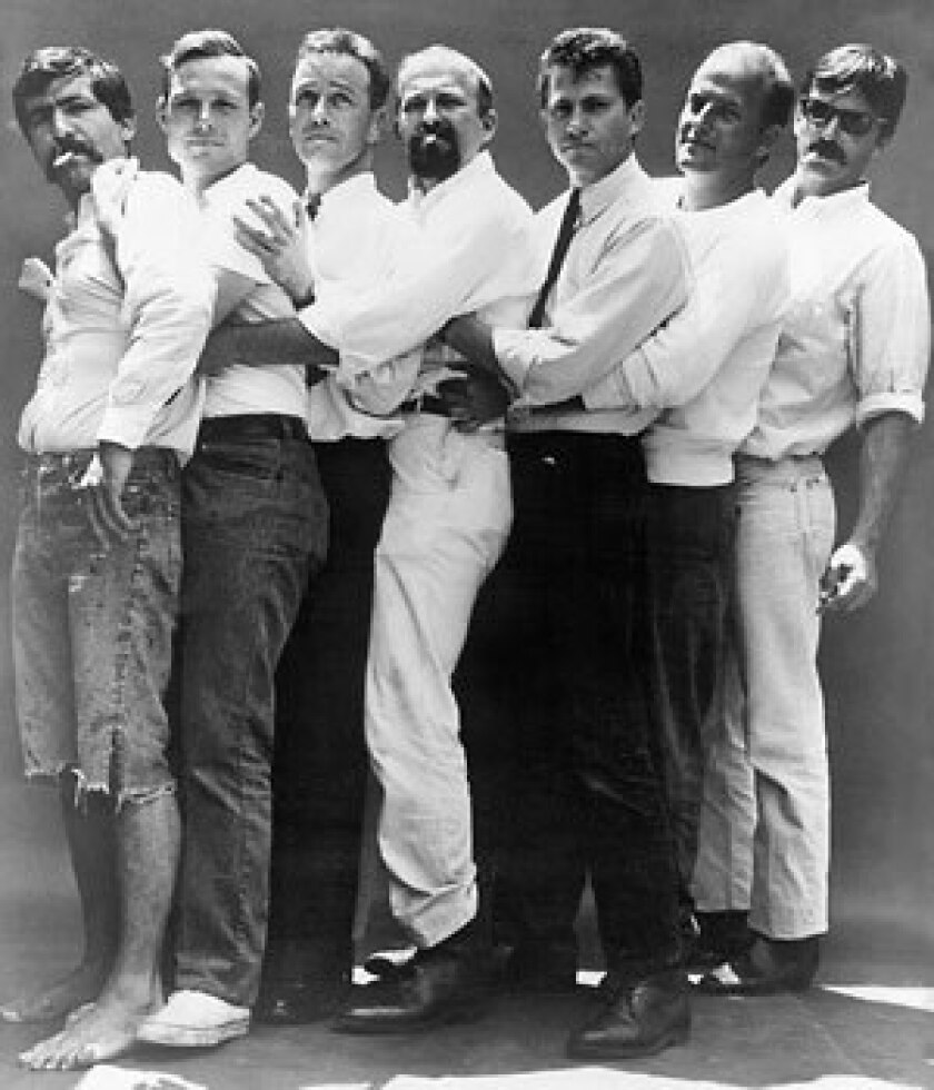 """MODERNIST PIONEERS: Morgan Neville's documentary """"The Cool School"""" chronicles the rise of L.A.'s Ferus Gallery, one of the key catalysts of the modern art scene. Pictured: The Ferus gang, 1962."""