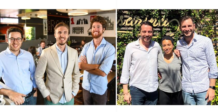 Two local Italian restaurant trios behind Ambrogio15 and Cesarina restaurants.