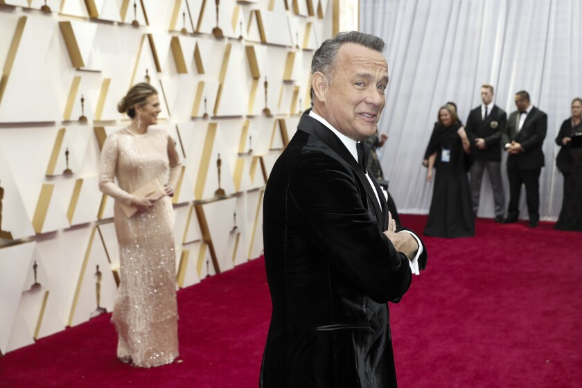 Tom Hanks and Rita Wilson at the Oscars