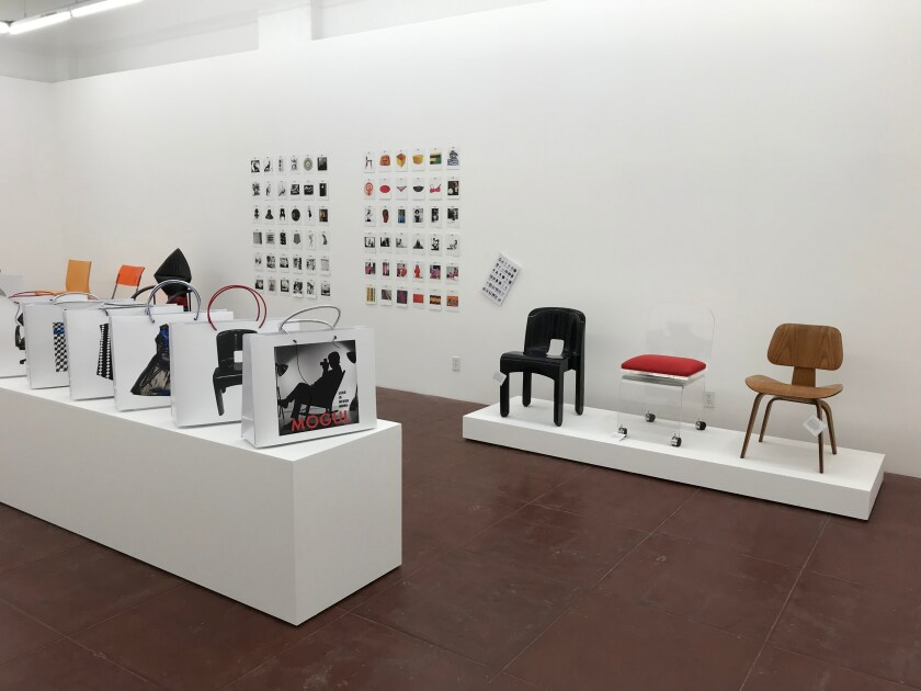 """Installation view of """"Susan Mogul: Less Is Never More"""" at As Is LA"""