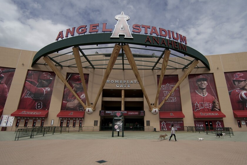 Angel Stadium entrance.