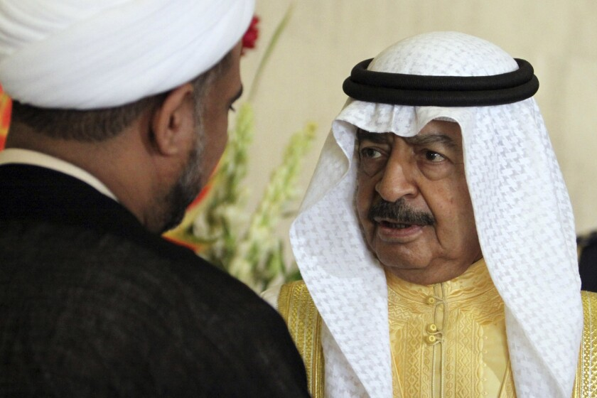 Bahraini Prime Minister Prince Khalifa bin Salman Al Khalifa died Wednesday at the age of 84.
