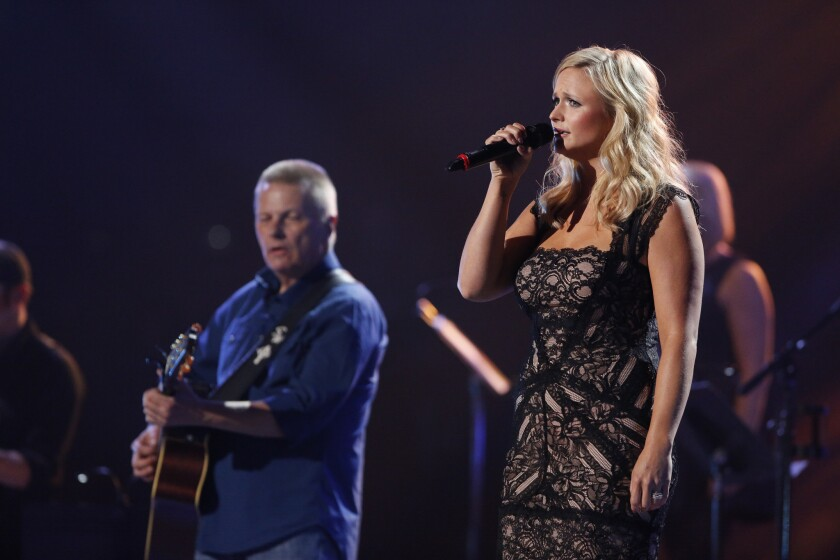 """Miranda Lambert performs during the """"Healing in the Heartland"""" benefit concert on May 29, 2013, in Oklahoma City."""