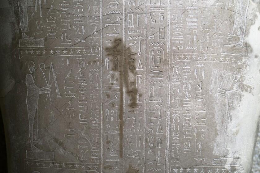 Una mancha en el sarcófago del profeta Ahmose en el Museo Nuevo