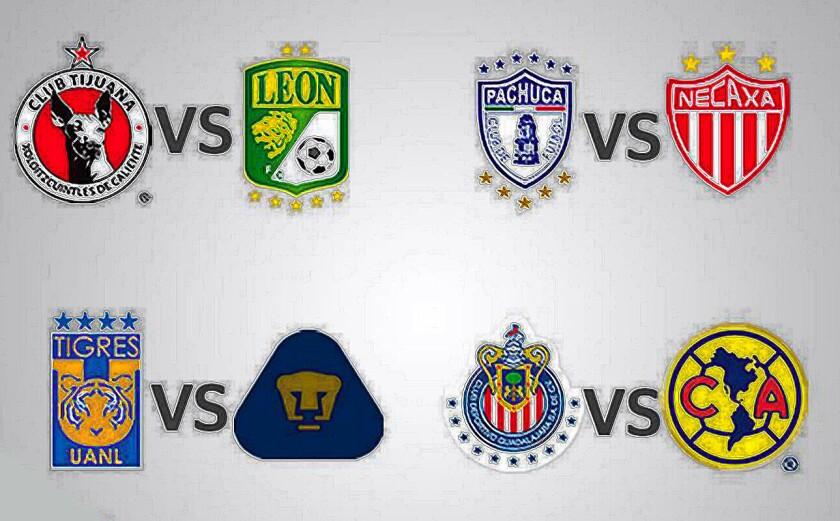 Así se juega la Liguilla 2016 del Tornbeo Apertura 2016 del futbol mexicano.