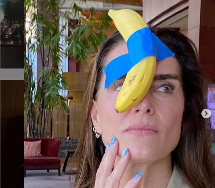 Brooke Shields in Miami with banana art.jpg