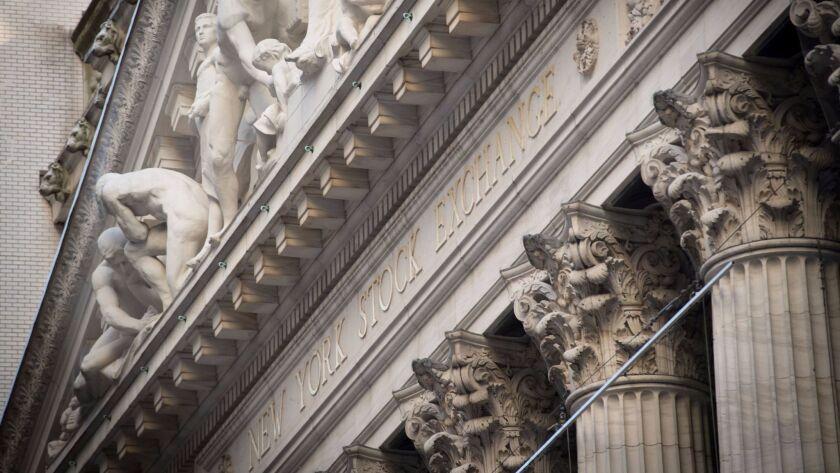 The New York Stock Exchange in Manhattan.