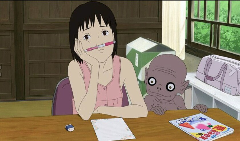 """A scene from """"A Letter to Momo."""""""