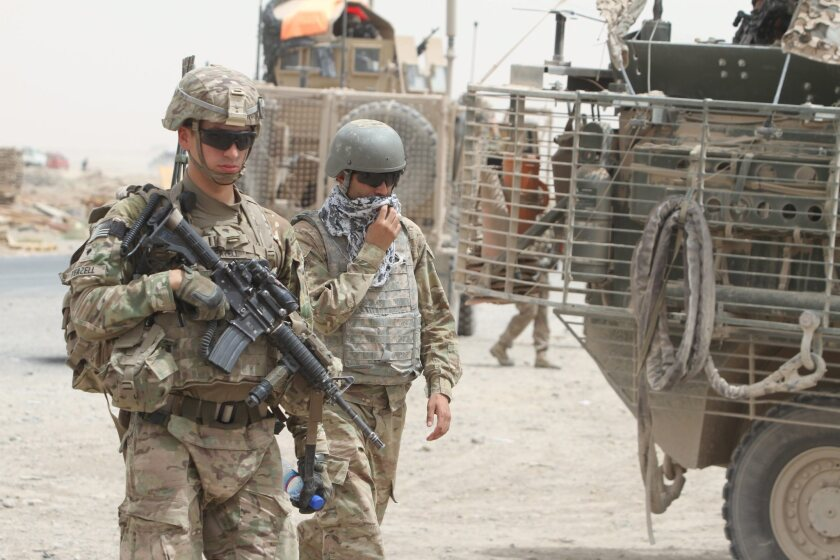 U.S. soldiers of NATO's International Security Assistance Force in Afghanistan.