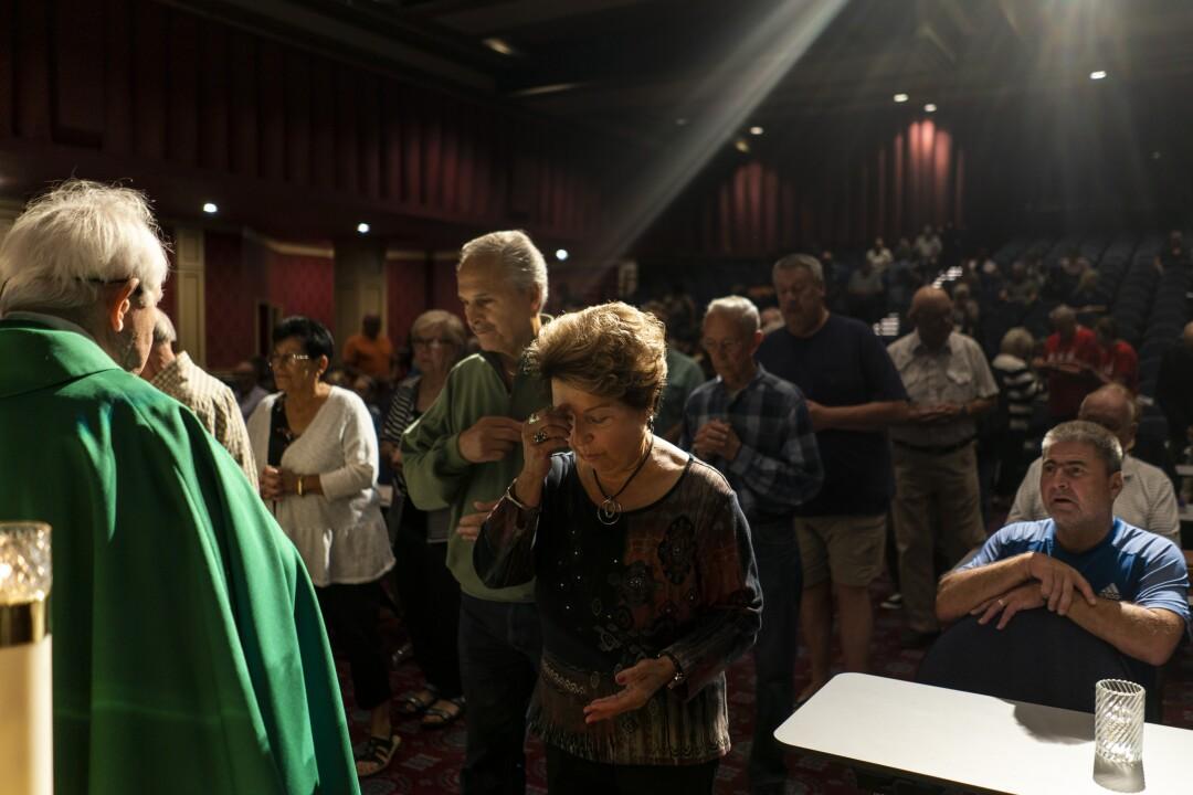 Father Charlie Urnick celebrates Mass