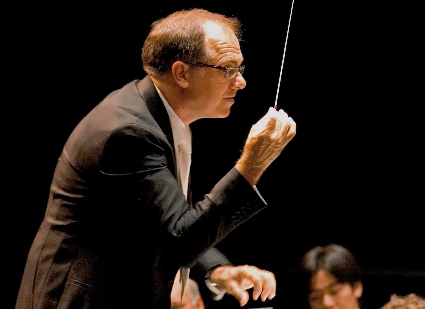Steven Schick, shown at a previous concert, is music director of La Jolla Symphony & Chorus.