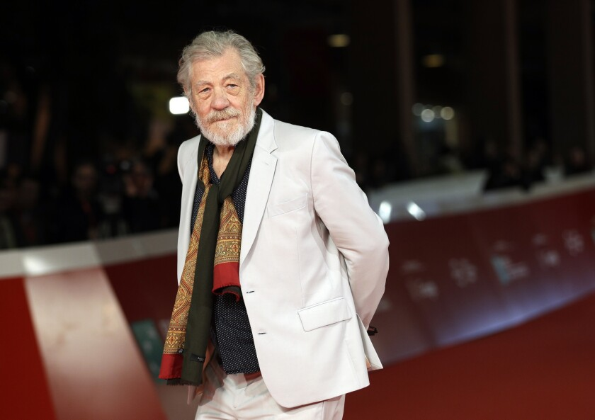 Actor Ian McKellen poses on the red carpet at the 12th edition of the Rome Film Festival Nov. 1, 2017.