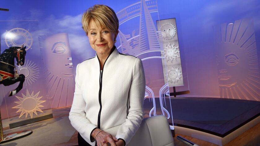 NEW YORK, NEW YORK--APRIL 22, Jane-Pauley hosts CBS Sunday Morning. Pauley began her role as host on