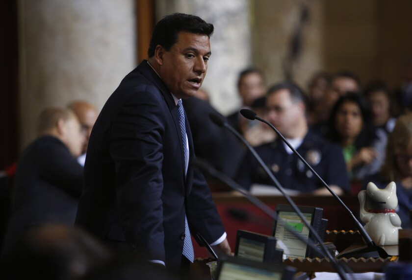 "An aide to Los Angeles City Councilman Jose Huizar has accused his boss of retaliating against him for talking to federal investigators. Huizar, in turn, said the staffer was put on administrative leave for engaging in ""unethical behavior."""