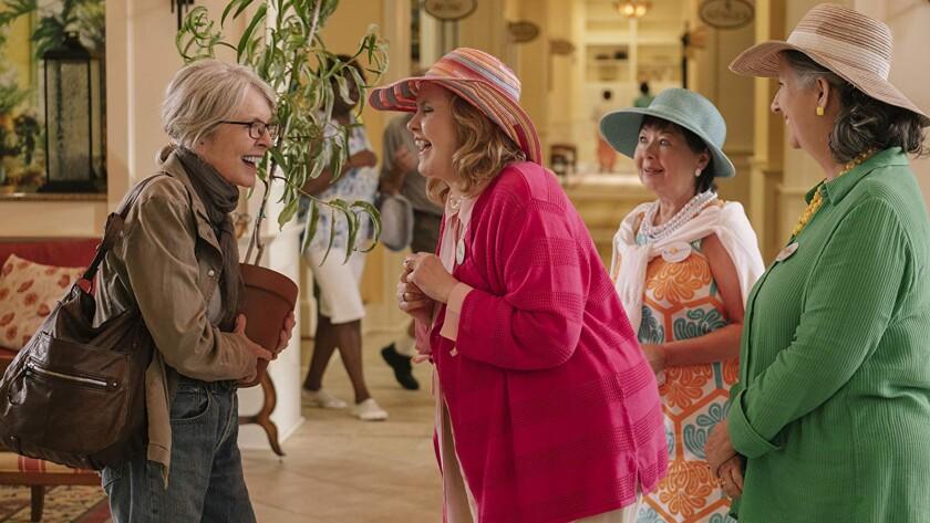 """From left: Diane Keaton Celia Weston, Karen Beyer and Sharon Blackwood in """"Poms."""""""
