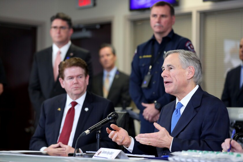 Texas Gov. Greg Abbott, whose reopening policies threaten workers with illness.