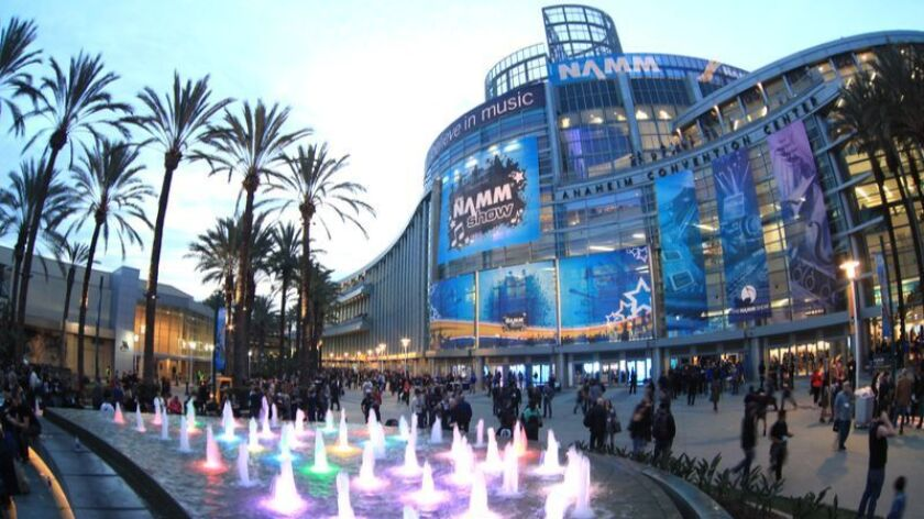 The record attendance of 101,736 at the 2016 NAMM Show will be surpassed at this year's edition, which runs Thursday through Sunday at at the Anaheim Convention Center. The nonprofit NAMM is headquartered in Carlsbad.