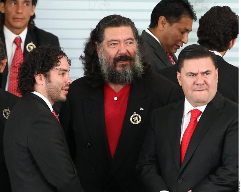 Jorge Hank Rhon (centro), exalcalde priista de Tijuana