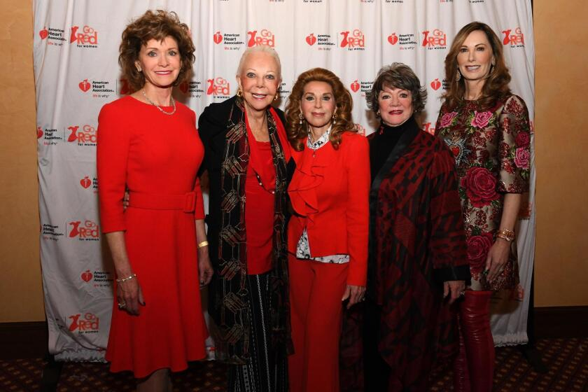 Susan Hoehn (Legendary Woman of the Heart), Jeanne Jones (event honorary co-chair; past Legendary Woman of the Heart), Reena Horowitz (event honorary co-chair; past Legendary Woman of the Heart ), Joyce Butler (Legendary Woman of the Heart), Valerie Cooper (Legendary Woman of the Heart)