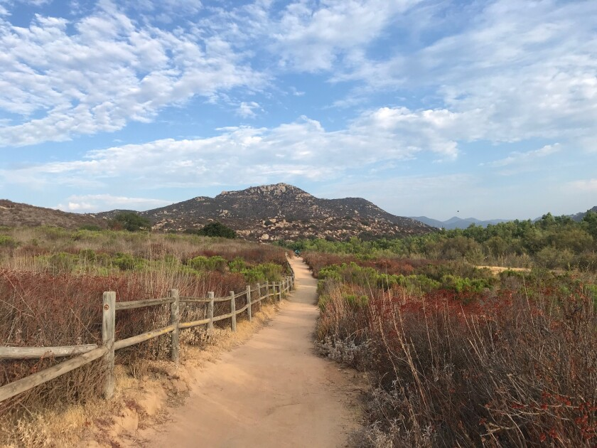 A hike on Lake Hodges Piedras Pintadas trail will be held on Sunday, Oct. 24.