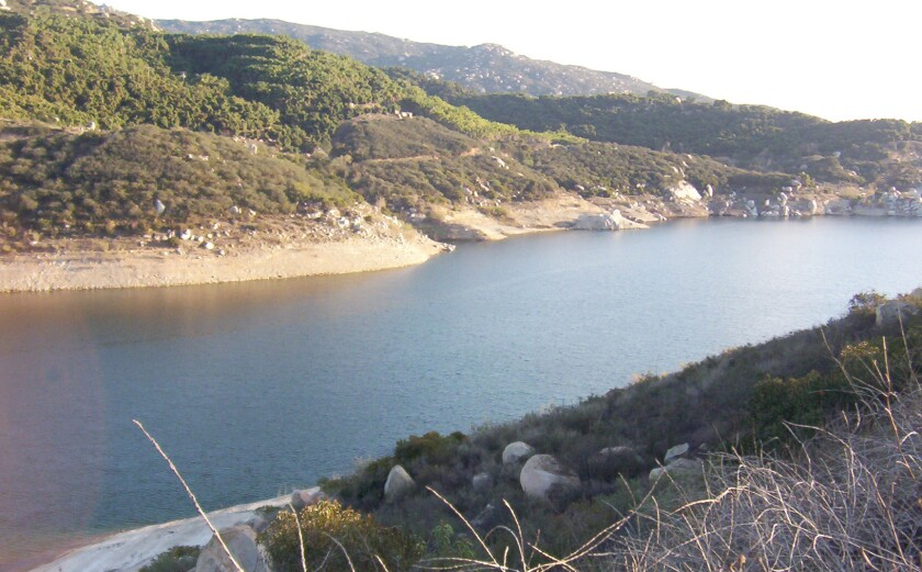 Untreated water supplied by the San Diego County Water Authority is pumped to Lake Ramona.