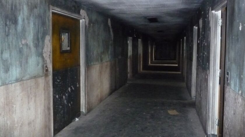 The deserted Linda Vista Hospital was reputedly haunted and attracted trespassers looking for ghosts