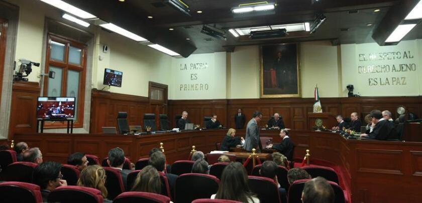 Vista general del pleno de la Suprema Corte de Justicia de México. EFE/Archivo