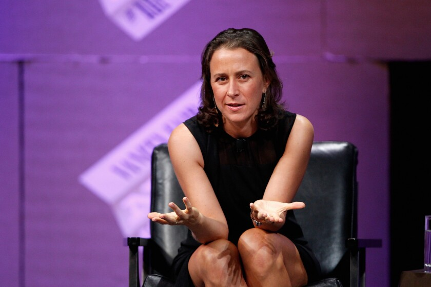 Anne Wojcicki, shown in 2014, is CEO and co-founder of 23andMe.