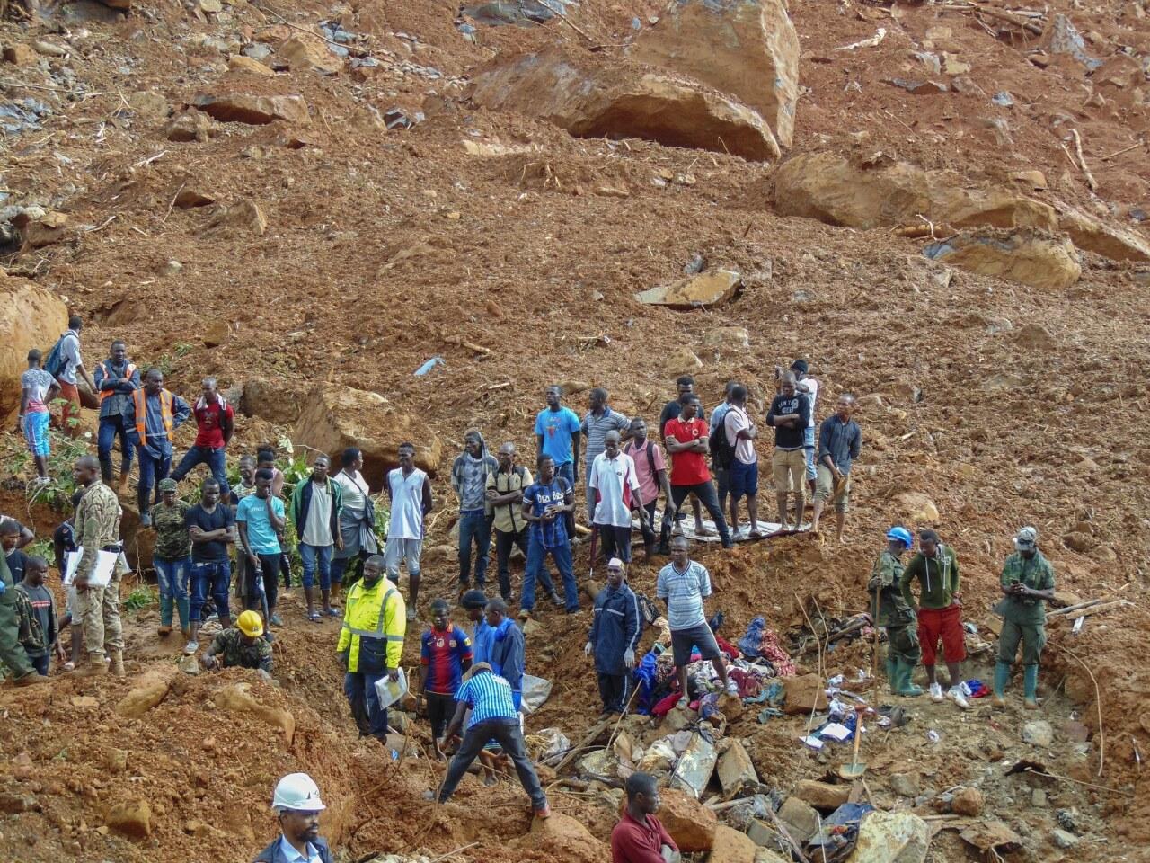 Deadly mudslides in Sierra Leone