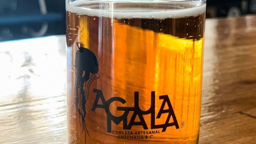 One of Agua Mala's beers.