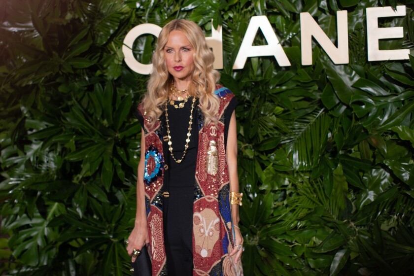 Fashion designer Rachel Zoe at the Chanel dinner.
