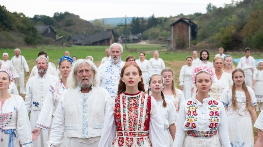 "Isabelle Grill in the movie ""Midsommar."""