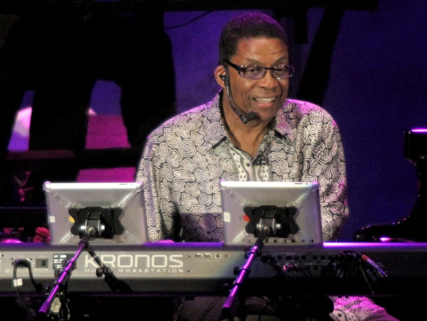 Music legend Herbie Hancock has embraced technology since he was a teenager in college.